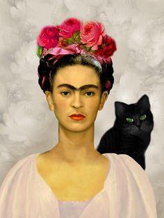 var. 15 - Frida Kahlo e il suo gatto