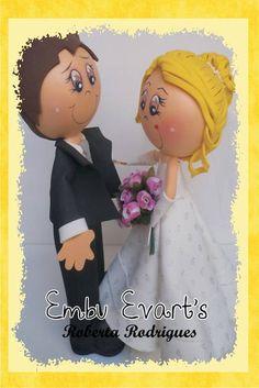Decoração de casamento ou topo de bolo!