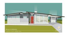 Starlight Village - a brand new, midcentury modern styled neighborhood in metro Austin, Texas - Retro Renovation Modern Architecture House, Modern Buildings, Architecture Design, Modern Floor Plans, Modern House Plans, Midcentury Modern, Modern Retro, Retro Renovation, Modern Farmhouse Exterior