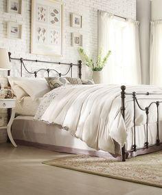 black metal bed - bedbug-proof and beautiful.