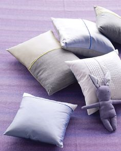 pillow covers made from dress shirts- easy built-in button-up openings