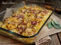 teglia di patate grattugiate