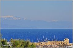 #Winter view of the #Aegean #Sea with the #snowed Mountains of Marmaris!   #Rhodes #Rodos #Greece