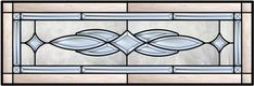 Transom Stained Glass Window With Inner Bevel Border nad Bevel Cluster