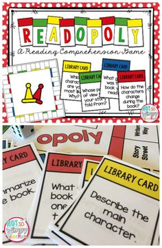 A fun game that gets students talking about books that they have read! This would be a great literacy center or a book report alternative (activity) Reading Centers, Reading Groups, Reading Workshop, Reading Skills, Literacy Centers, Guided Reading, Reading Activities, Reading Intervention, Fun Reading Games
