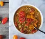 Cherry Tomato, Basil and Mozzarella Oatmeal Recipe Side Dish Recipes, New Recipes, Vegan Recipes, Cooking Recipes, Tomato Mozzarella, Tomato Basil, Oatmeal Dinner, Savory Oatmeal Recipes, Dinner Bowls