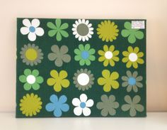 'Heidi' by Genia Sapper wall art. Green colour way.