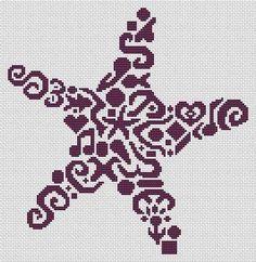 Tribal,Starfish,Pattern,tribal starfish Cross Stitch