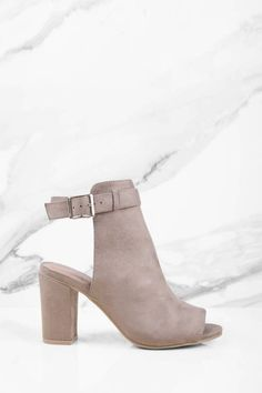 """Search """"Jamie Taupe Suede Peep Toe Booties"""" on Tobi.com! Ankle strap grey gray nude block heel bootie faux suede #ShopTobi #fashion shop buy cheap inexpensive ideas chic fashion style fashionable stylish comfy simple chic essential capsule Basic outfit simple easy trendy ideas for women teens cute college fall winter summer spring outfit outfits california LA"""