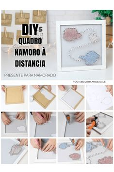 DIY Como Fazer Quadrinho Namoro à Distância 10th Wedding Anniversary Gift, Anniversary Gifts For Husband, Paper Anniversary, Boyfriend Anniversary Gifts, Birthday Gift For Wife, Diy Birthday, Presents For Boyfriend, Boyfriend Gifts, Valentine Gifts For Boys