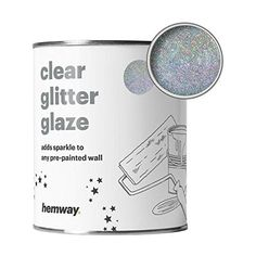 8 Removable Products for your Rental - Cute Apartment Decor - The Crazy Craft Lady Sparkle Wall Paint, Glitter Paint Silver, Glitter Paint For Walls, Cute Apartment Decor, Apartment Ideas, Glitter Ceiling, Painting Bathroom Walls, Holographic Paint, Glitter Bedroom