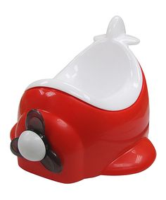 Look at this Little Tikes Red & White Airplane Floor Potty on #zulily today!