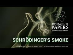 (10) Schrödinger's Smoke | Two Minute Papers - YouTube