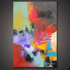Large Original Modern Abstract Painting by SavarinoArt on Etsy, $425.00