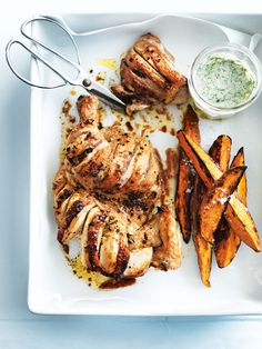 lime roasted chicken with sweet potato wedges
