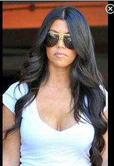 Long curls kourtney kardashian