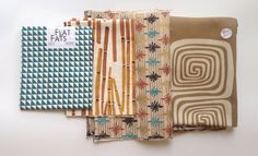Fabric Scrap Pack Fabric Bundle Destash by theowlsarehunting Fabric Scraps, Packing, Bag Packaging