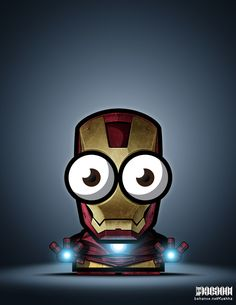 Big eyed superheroes are oddly cute