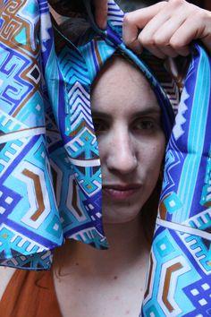 Φουλάρι Υφαντό Μπλε – Μεταξωτά Σουφλίου – Μπουρουλίτης