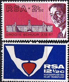 South Africa 1969 First Heart Transplant Set Fine Mint SG 280 1 Scott 355 6 Condition Fine MNH Only one post charge Rare Stamps, Buy Stamps, Christiaan Barnard, First Heart Transplant, Handmade Books, Afrikaans, Commonwealth, Stamp Collecting, Postage Stamps