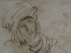 CHASSERIAU Théodore,1846 - Arabe à mi-corps - drawing - Détail 1