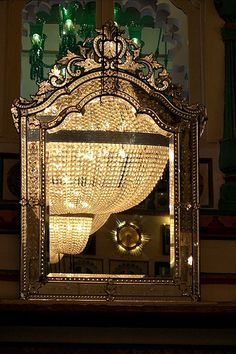 reflections in an antique mirror, via Flickr.