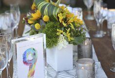 Watercolor table num