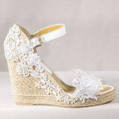 Jazmin Wedding Shoes, Wedding Dresses, Wedding Stuff, Older Bride, Soft Feet, Marie, Alexander Mcqueen, Wedges, Mc Queen