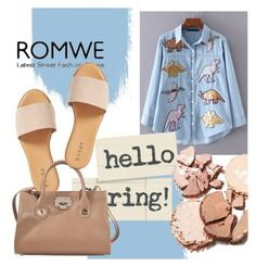 """""""ROMWE"""" by ratko1959 ❤ liked on Polyvore featuring Hinge and Jimmy Choo"""