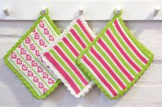 Pot Holders, Knit Crochet, Knitting, Threading, Hot Pads, Tricot, Potholders, Breien, Ganchillo