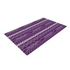 East Urban Home Famenxt Pattern Abstract Purple Area Rug Rug Size: 2' x 3'