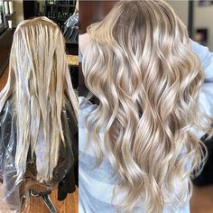 Beautiful! Straight Hairstyles, Balayage Hair, Cool Blonde Balayage, Ombre Hair, Baylage, Gorgeous Blonde, Light Hair, Light Blonde Hair, Hair Inspo