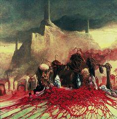 Zdzisław Beksiński - paintings I Arte Horror, Horror Art, Dark Fantasy Art, Dark Art, Macabre Art, Creepy Art, Weird Art, No Photoshop, Surreal Art