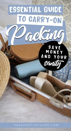 Looking for easy packing tips and ideas on how to save money by traveling with a carry-on only? Check out this helpful guide by a frequent traveler with experience! Carry On Packing, Packing List For Travel, Packing Tips, Budget Travel, Travel Ideas, Travel Inspiration, Travel Hacks, Luggage Packing, Travel Checklist
