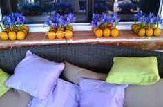https://flic.kr/p/vYWfmH | Naranja e Iris | Centros de mesa y detalles florales en Cancún. www.floreriazazil.com