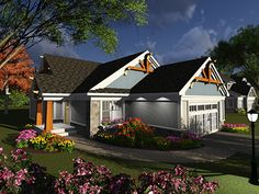ePlans Ranch House Plan – Unique Craftsman With Side Entry – 1642 Square Feet and 2 Bedrooms from ePlans – House Plan Code HWEPL77871