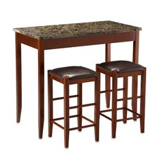 Marble Tavern Pub Stools - 3-Piece Set   $150 Out of Stock