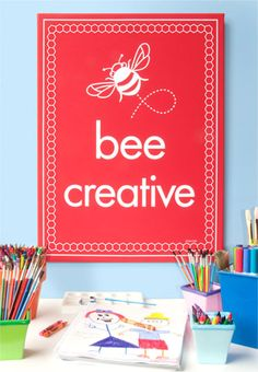 Bee Lines Inspirations add a positive note to both your childs day and to yours. Bee inspired!