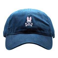 Psycho Bunny Everyday Washed Baseball Hat in Navy