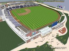 Pensacola Blue Wahoos Ballpark--brand new in 2012 (AA Team for Cinncinati Reds)