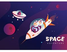 "Check out new work on my @Behance portfolio: ""Space Adventure illustration with gradient color"" http://be.net/gallery/58653047/Space-Adventure-illustration-with-gradient-color"