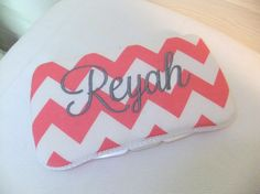 Custom Pink Chevron Diaper Wipes Case by MsSewItAll32 on Etsy, $12.50