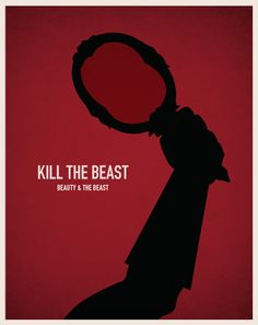 "Disney Villain Minimal Movie Posters - ""Beauty and the Beast"""