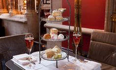 bar-afternoon-tea |Veuve Clicquot has partnered with the St Pancras Renaissance Hotel to offer a Champagne Afternoon Tea for Mothers' Day, complete with rosé and a selection of scones and sandwiches