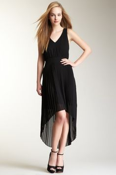 Solid Black Hi-Lo Dress