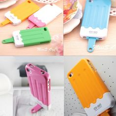 Icelick Shaped Protective Back Case for iPhone 4 and 4s - Apple Accessories - Funny Gadgets Free shipping