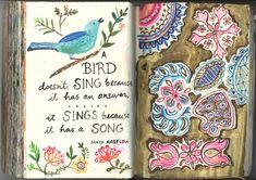 Art Journal by Jennifer Lewis - Beautiful ~ Wendy Schultz ~ Mini Albums.