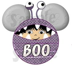 Monster's Inc. Boo inspired Character printable personalized digital file DIY