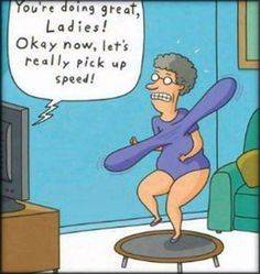 It's time to workout. And laugh. A little humor and a good bra go a long way.