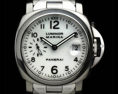 Panerai Stainless Steel White Dial Luminor Marina 40mm Box & Papers PAM00051. RRP:£5300 Our Price:£3250!! Call:07885661038 and Quote:25071506 for more info. #Panerai #Steel #Luminor #Gents #Luxury #Wristwatch #WatchCentre #London